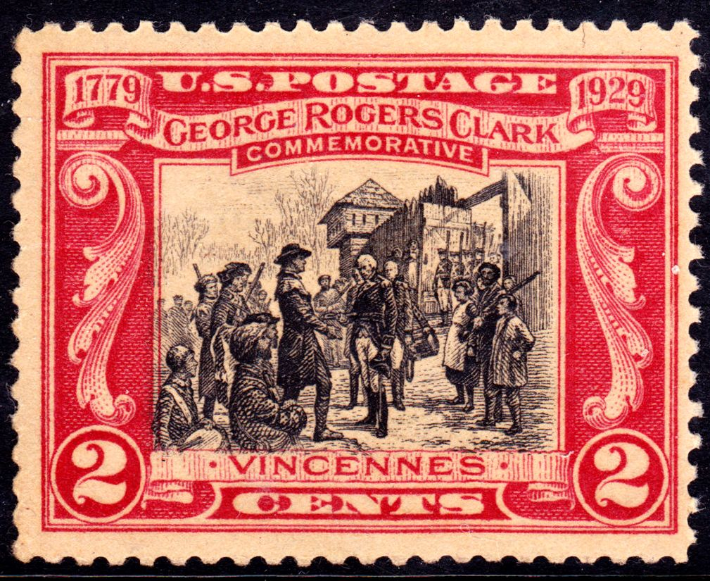 George Rogers Clark and the conquest of Fort Vincennes (1779) Stamp